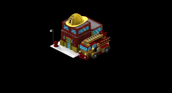 Fire Station - 3DOcean Item for Sale