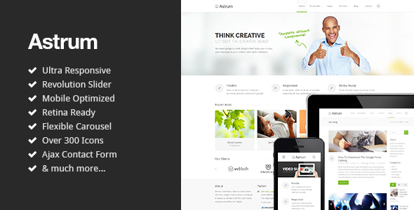 ThemeForest Astrum Responsive Multi-Purpose HTML5 Template 5045697