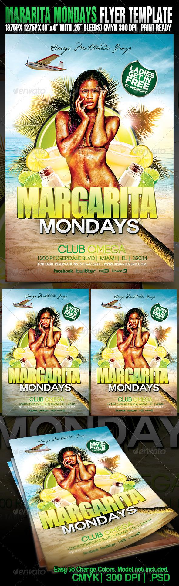 GraphicRiver Margarita Mondays 4972649