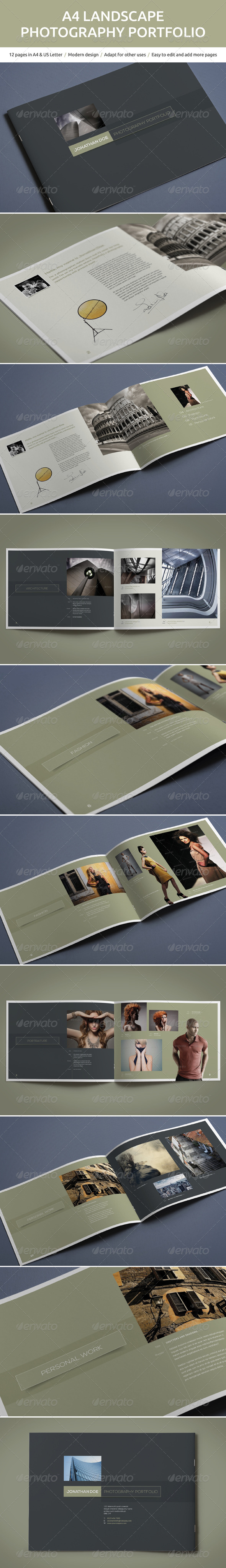 GraphicRiver A4 Landscape Photography Portfolio 5046024