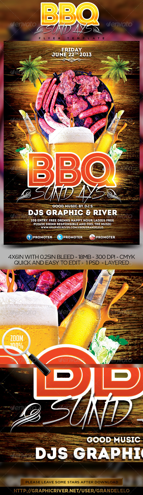GraphicRiver BBQ Party Flyer 5046029