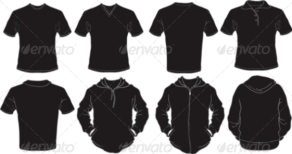 Male Black Shirts Template