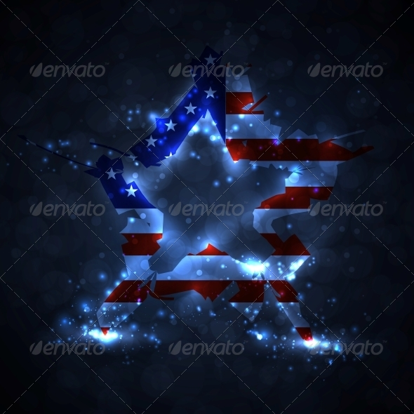 GraphicRiver The Abstract Star with American Flag 5046098