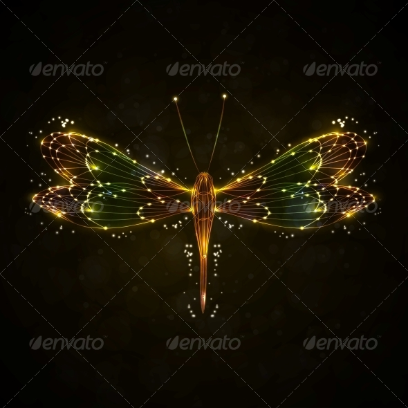GraphicRiver Shiny Abstract Dragonfly 5046282