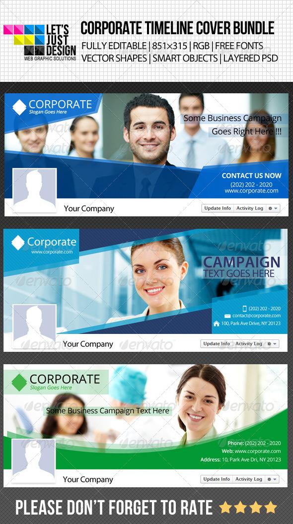 GraphicRiver Corporate Facebook Timeline Cover Bundle 5046496