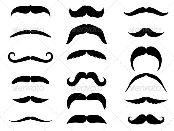 GraphicRiver Black Mustaches 5046529