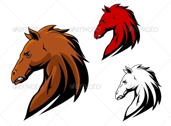 GraphicRiver Angry Stallion Mascot 5046538