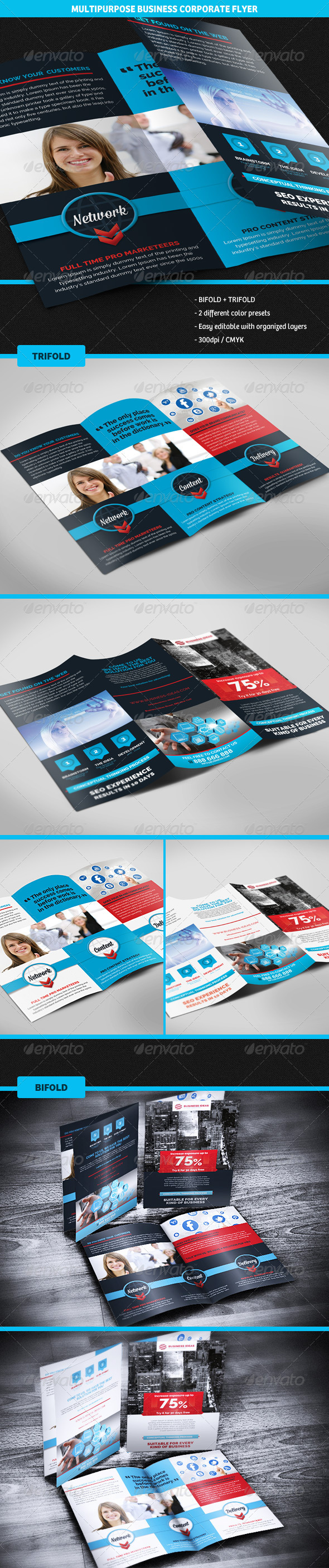 GraphicRiver Corporate Business Bifold & Trifold Brochure 5046544