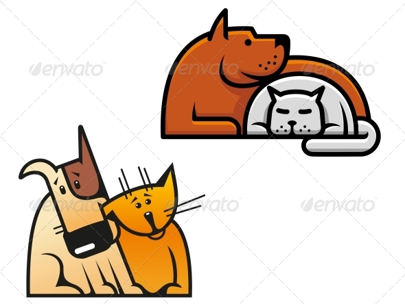 GraphicRiver Friendship of Dog and Cat 5046555