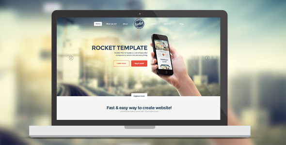 Rocket - PSD Template