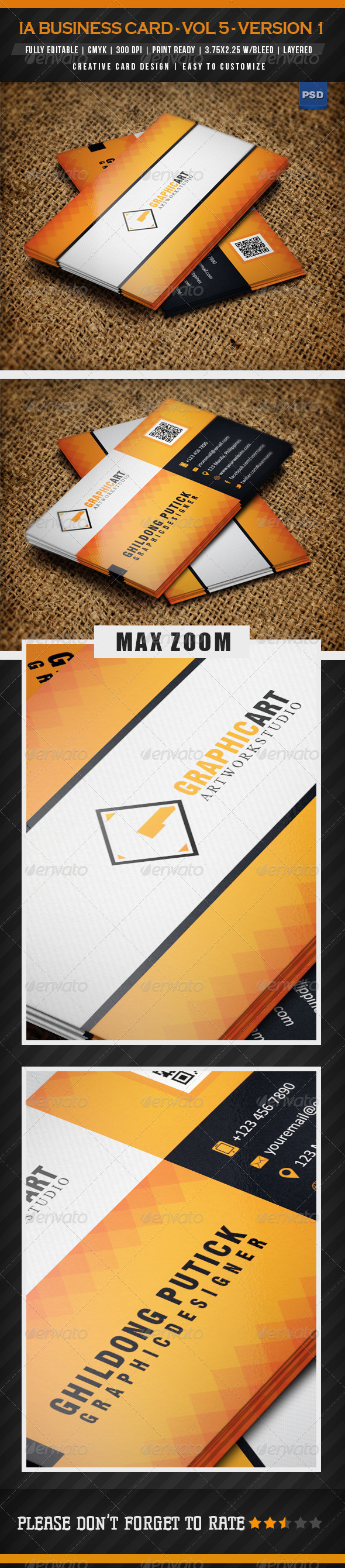 GraphicRiver IA Business Card Vol 5 Version 1 4991033
