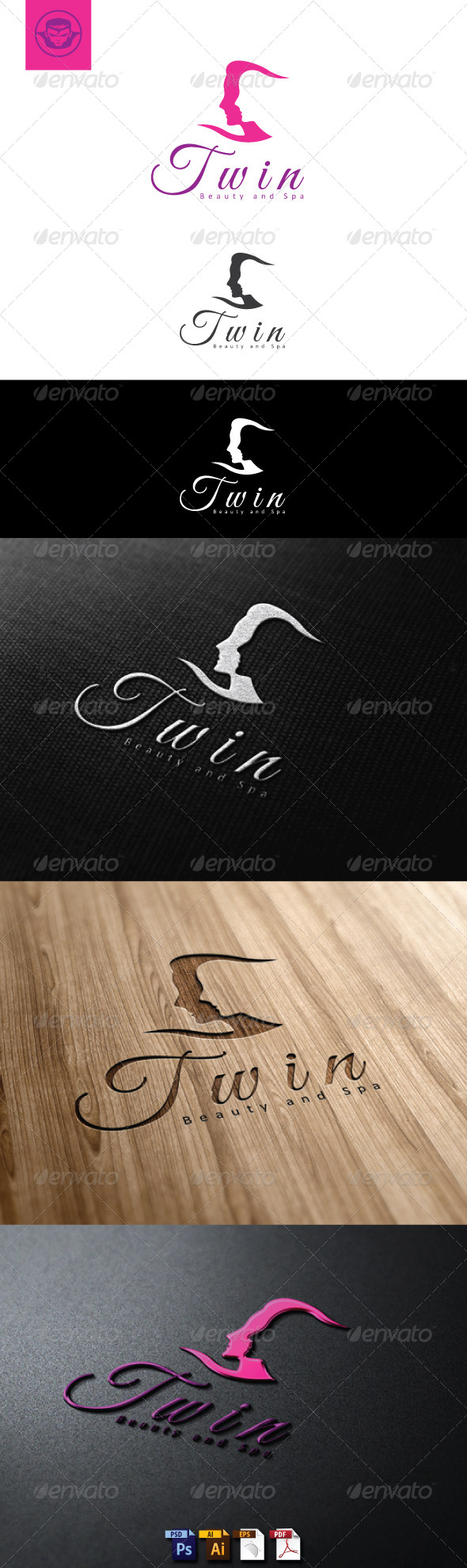 GraphicRiver Twin Beauty and Spa Logo Template 5046580