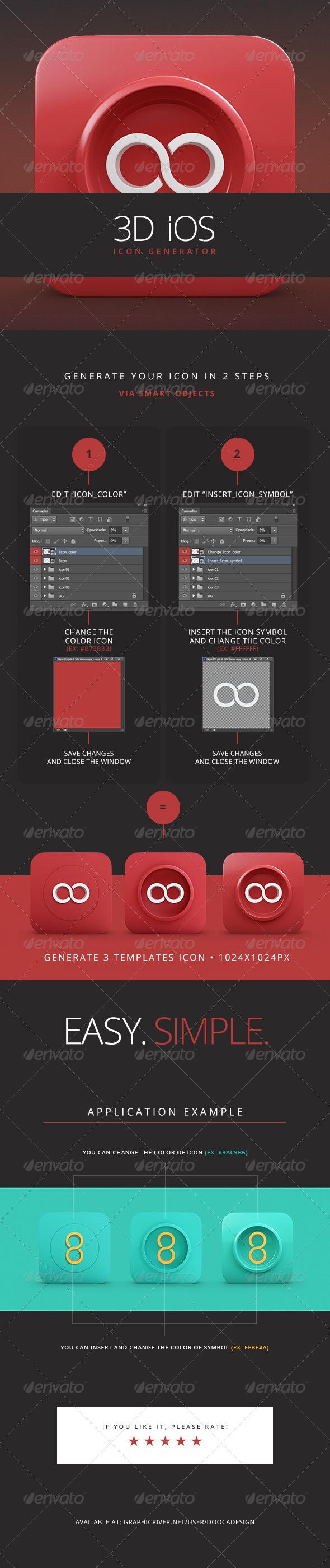 GraphicRiver 3D iOs Icon Generator 5033038