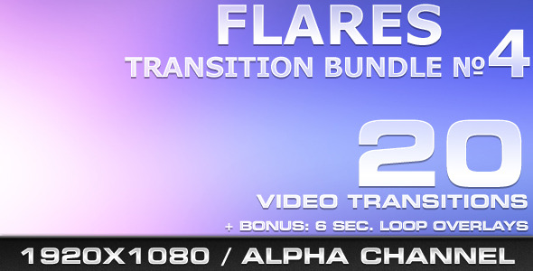 [VideoHive 519476] Flares Transition Bundle 4 | Motion Graphics