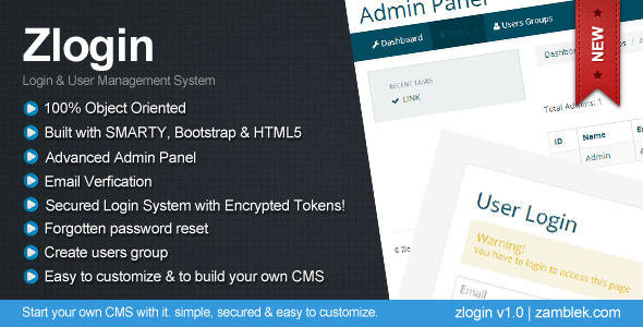 CodeCanyon Zlogin simple login system 5034374