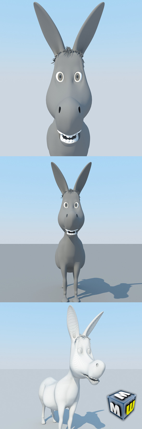 Donkey Cartoon MAX 2011 - 3DOcean Item for Sale