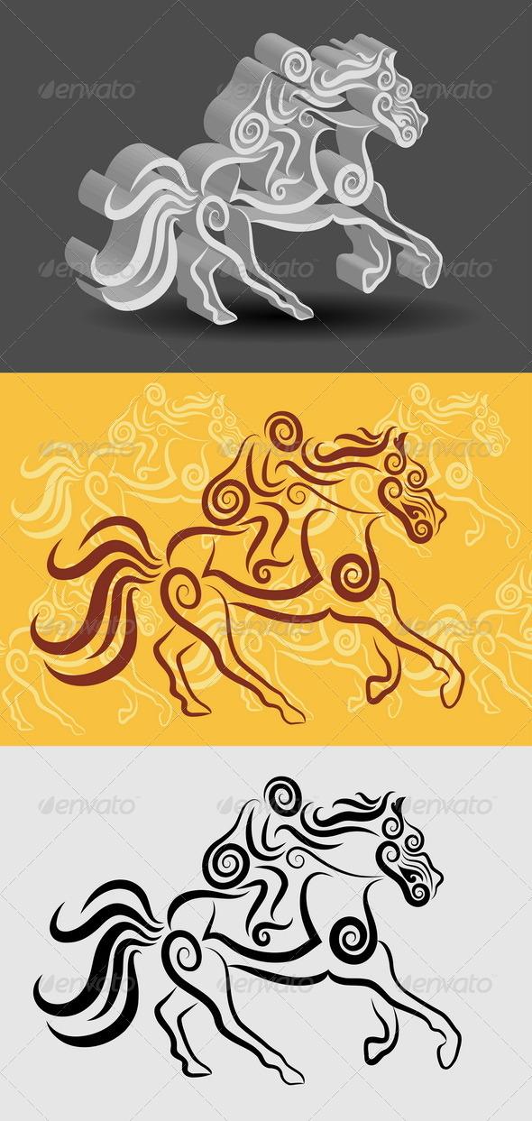 GraphicRiver Jockey Symbol 5047073