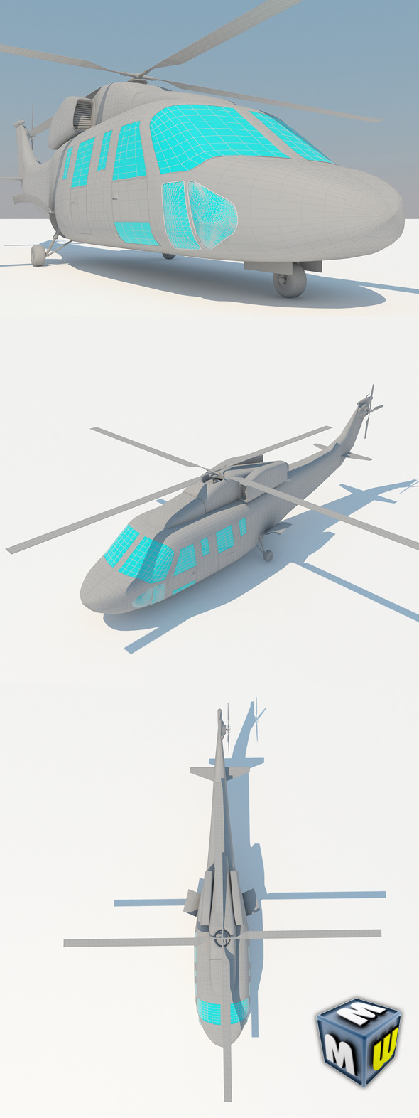 3DOcean Helicopter MAX 2011 5047074