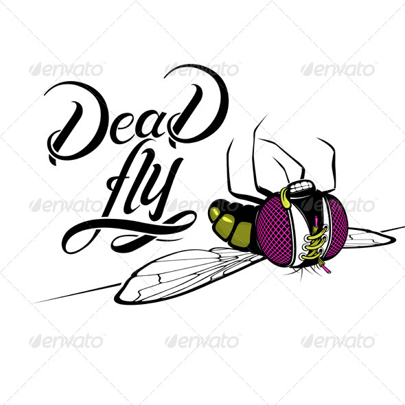 GraphicRiver Cartoon Dead Fly 5041768