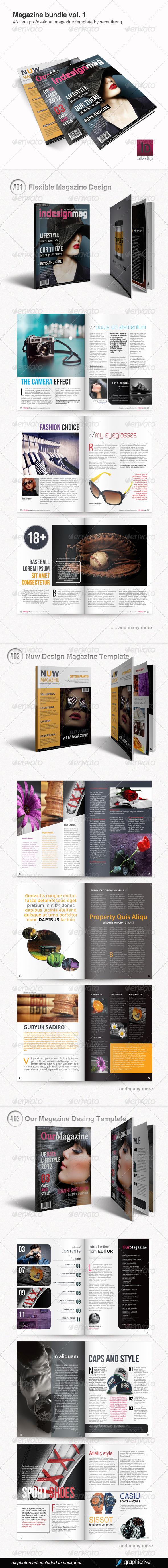 GraphicRiver Magazine Bundle Vol 1 5047543