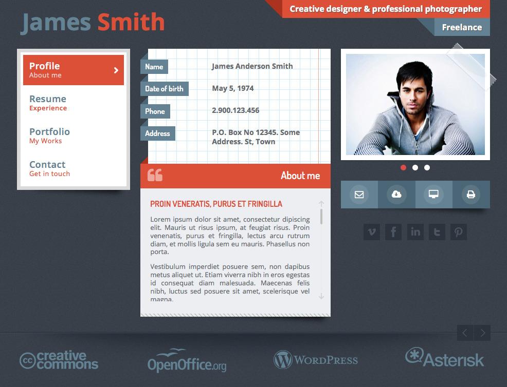 Responsive Portfolio & Personal vCard - JS