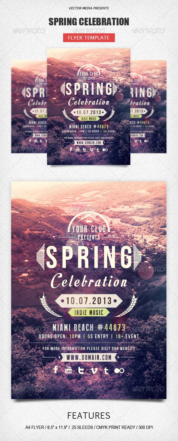 GraphicRiver Spring Celebration Flyer 5047751