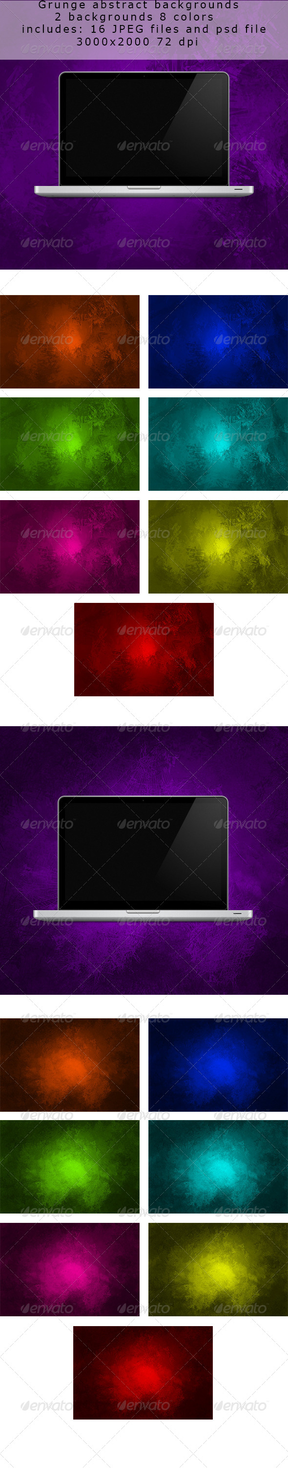 GraphicRiver Grunge Abstract Backgrounds 2 in 1 5047880