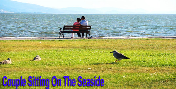 Couple Sitting On The Seaside