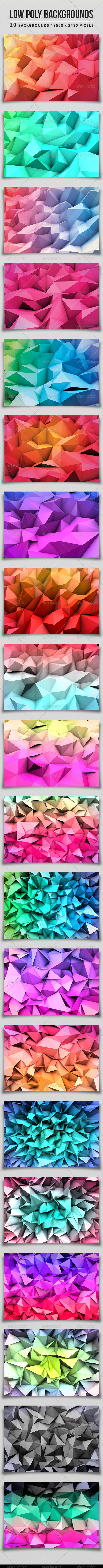 GraphicRiver Low Poly Backgrounds 5048031