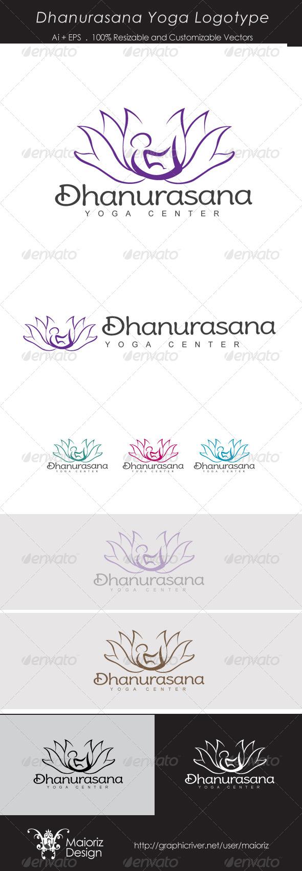 GraphicRiver Dhanurasana Yoga Logo 4069169