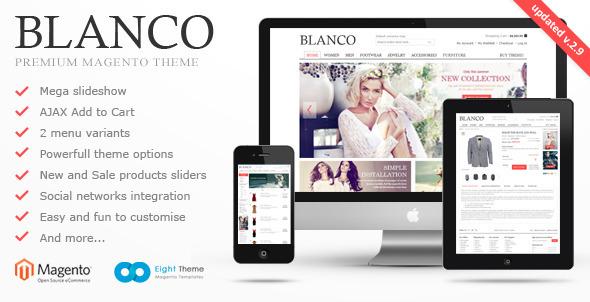 Blanco Responsive Themeforest Magento Theme Free Download Magento