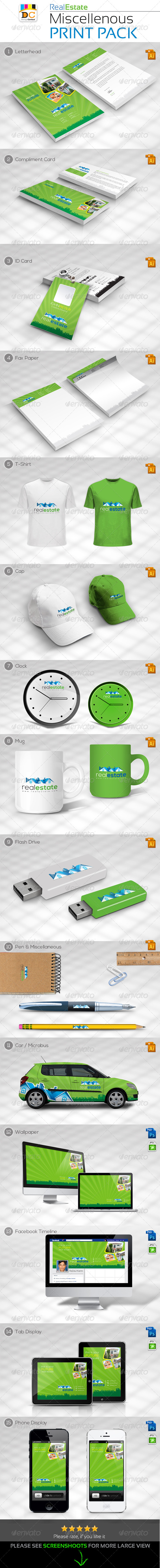 GraphicRiver Real Estate Miscellaneous Print Pack 5048544