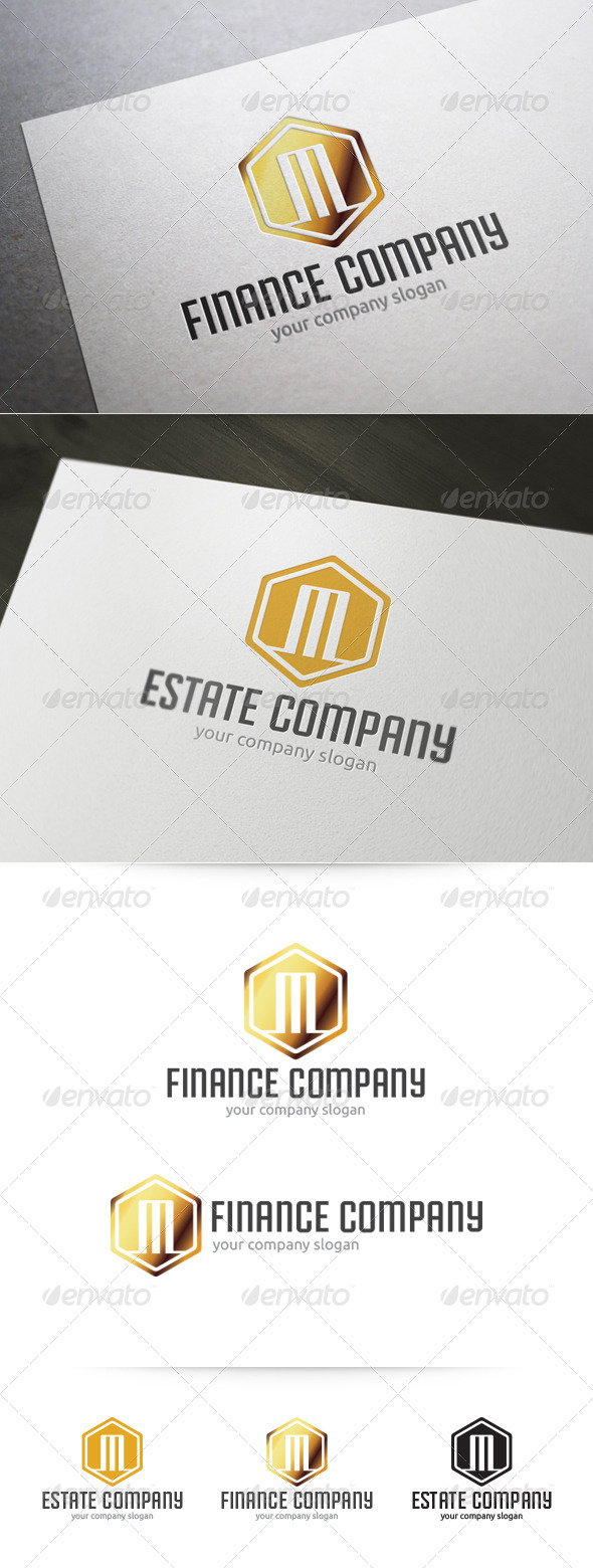 Letter M Finance Real Estate Logo