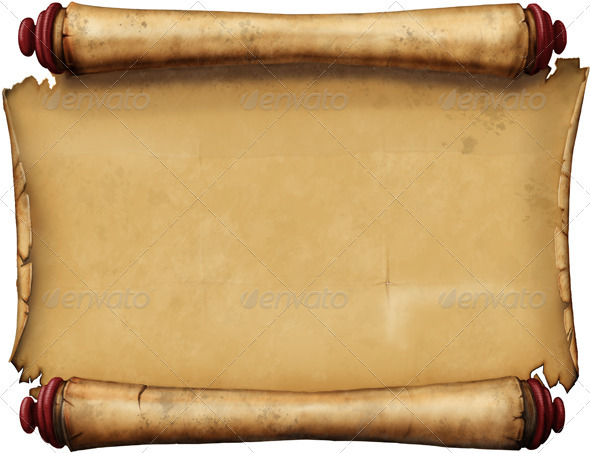 Old blank scroll graphicriver for Pirate scroll template