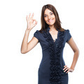 Young business woman doing Ok gesture - PhotoDune Item for Sale