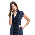 Beautiful smiling business woman in blue dress - PhotoDune Item for Sale
