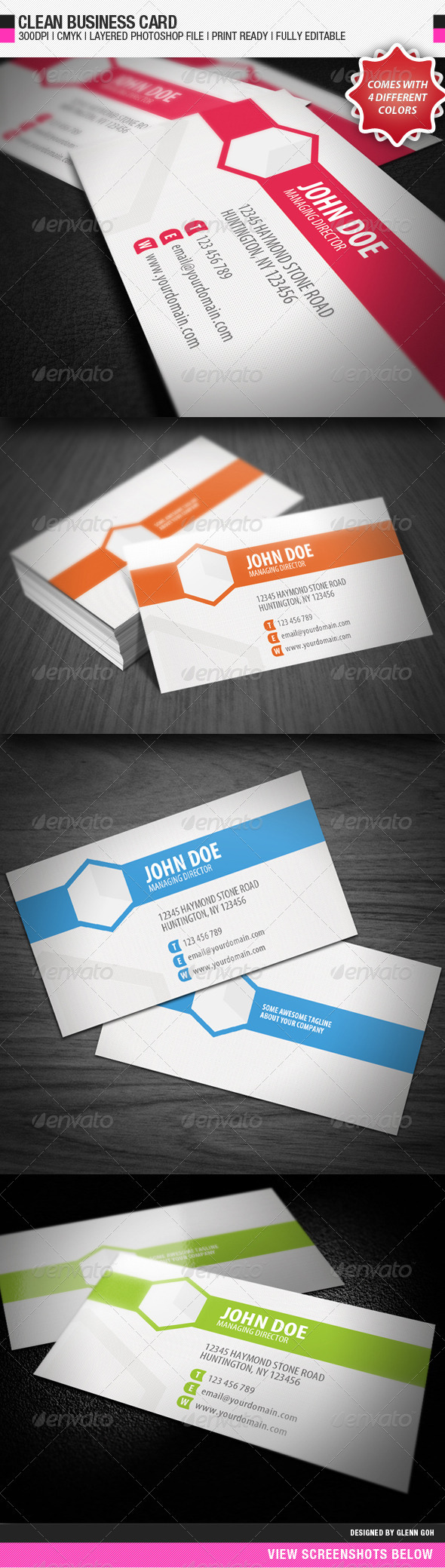 Clean Business Card - Business Cards Print Templates