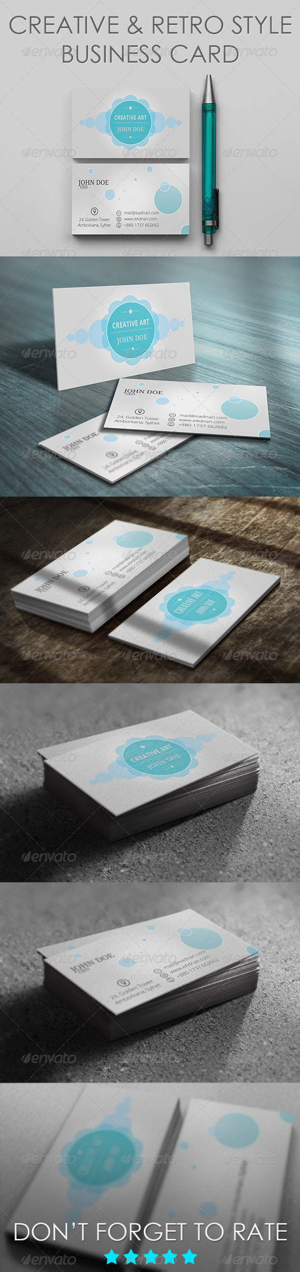 Creative & Retro Style Business Card