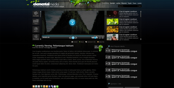 Elemental Media - Creative PSD Templates