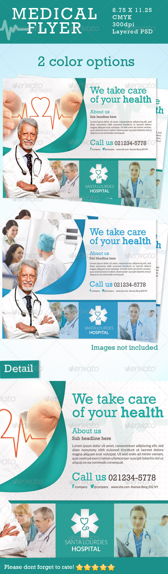 GraphicRiver Medical Flyer in 2 Colors 5051220