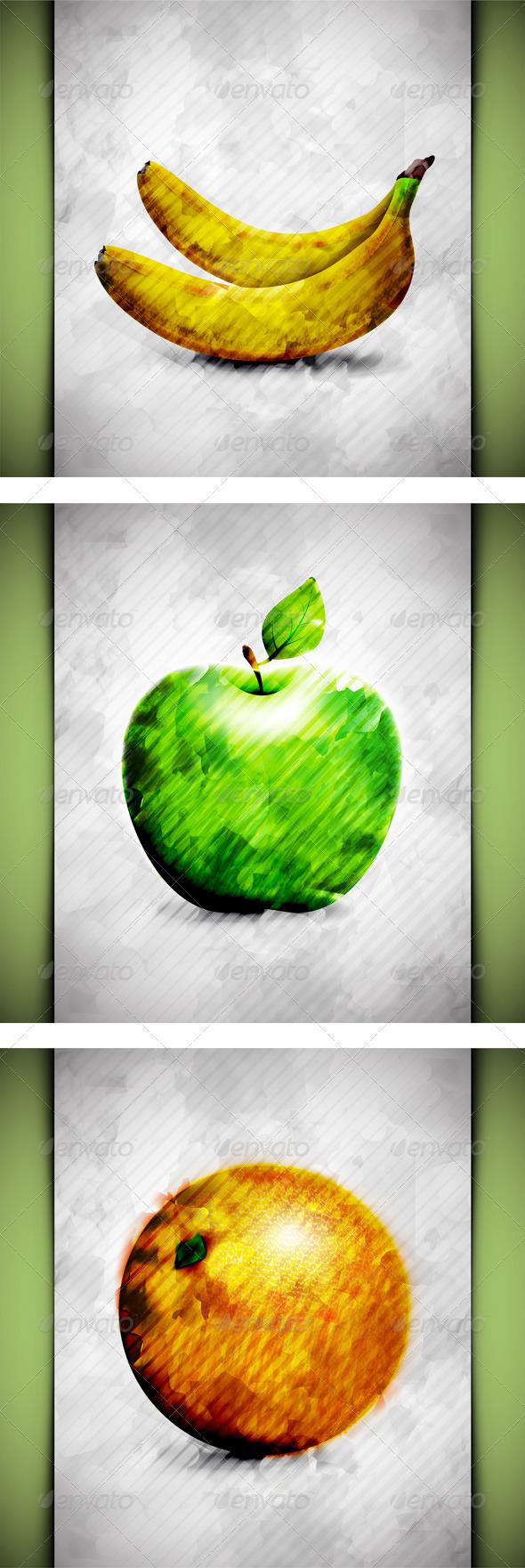 GraphicRiver Fruit Watercolor 5051971