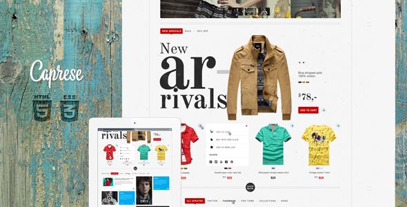 Caprese – Modern E-Commerce Template (Shopping) images