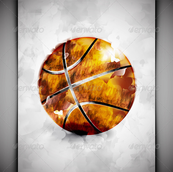 sports ball watercolor by  lonely