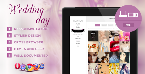 ThemeForest Wedding Day Responsive WordPress Theme 5052174
