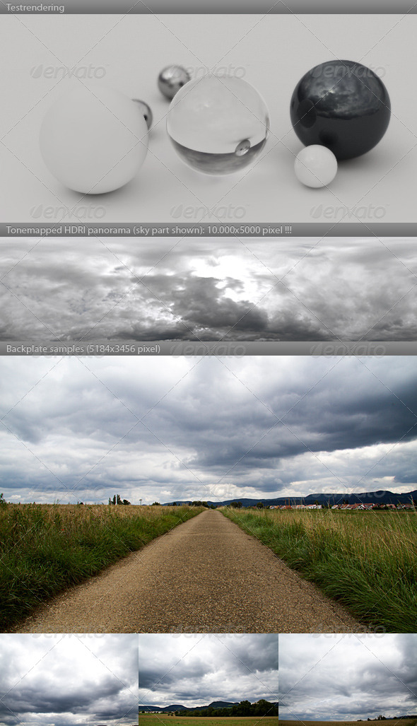 HDRI spherical sky panorama 1232- rain clouds