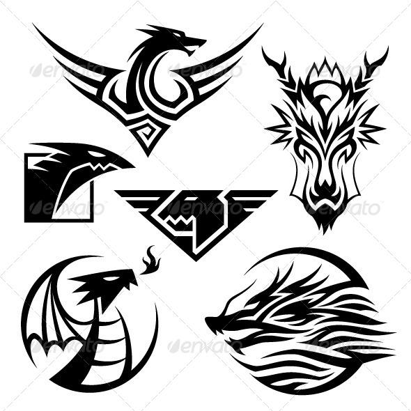 GraphicRiver Dragon Symbols 5052346