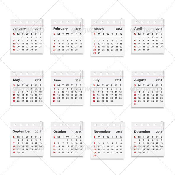 GraphicRiver 2014 Calendar 5052427
