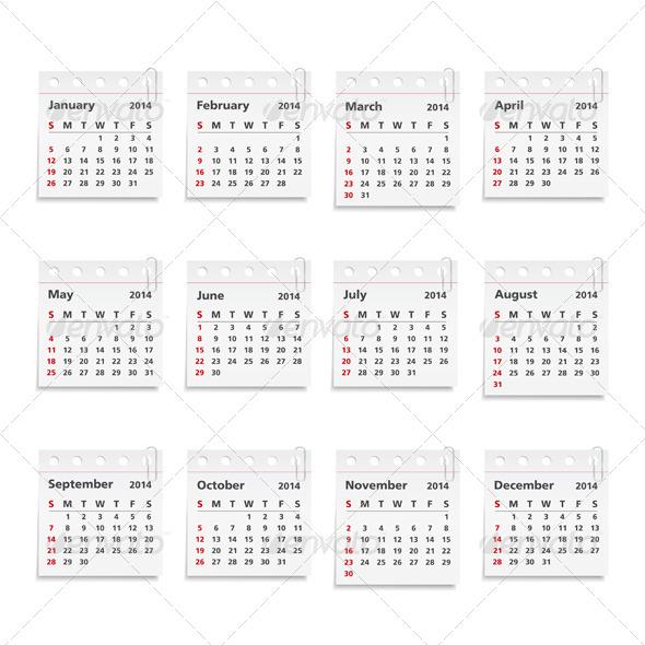 GraphicRiver 2014 Calendar 5052427