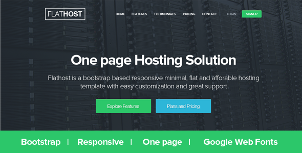 ThemeForest FlatHost Responsive Hosting Template 5043574