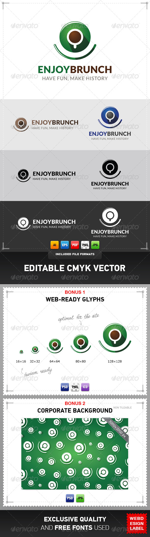 GraphicRiver Enjoy Brunch Logo 5052590